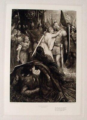 Ferdinand Leeke Richard Wagner Lohengrin Elsa von Brabant Schwanen-Ritter Schwan
