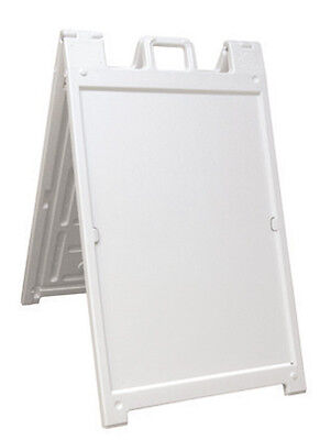 Best Seller 24 X 36 Deluxe Signicade Plastic Outdoor A Frame Curb Sign White