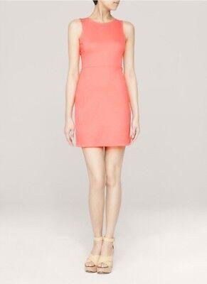 $225 Theory Women's Melon Daniko Pryor Perfect Stretch Ponte Knit Tank Dress NWT