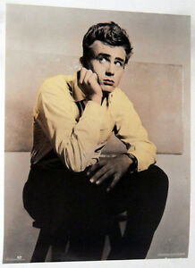 JAMES DEAN IN YELLOW SHIRT POSTER FROM 1990