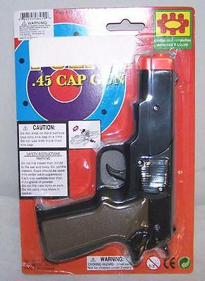 CAP GUN 45 PLASTIC SHOOTER play toy guns boy TOYS new play boy pistol shoot new (Plastic Toy Guns)