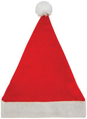 Rote Filz SANTA Pudelmütze 30cm x 40cm Weihnachtsmann Hut