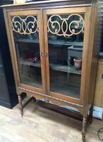 Antique walnut cabinet!