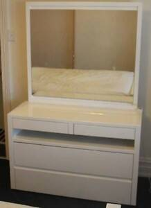 Gauchie White High Gloss Dressing Table Strathfield Strathfield Area Preview