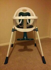 Mamas papas high chair high low adjustable brand new