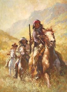 Howard Terpning canvas