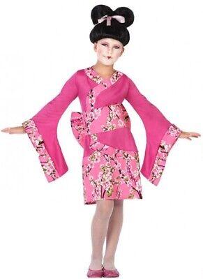 Mädchen Rosa Japanische Geisha Chinesische Kostüm 3-12 - Geisha Mädchen Rosa Kostüm