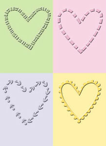 Cuttlebug 2x2.75 Embossing Folder Set (heart, square, star) -$6