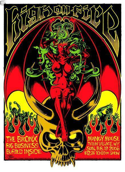 High On Fire Concert Poster 2006 Greg Stainboy Reinel