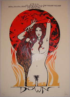 2008 Down - Roadburn Silkscreen Concert Poster by Malleus s/n