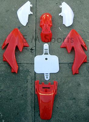 Chinese Dirt Pit Bike Fairing Body Shell Parts COOLSTER QG-210 QG-210-E 70cc RED