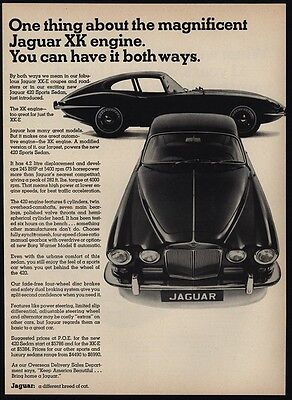 1967 JAGUAR XKE 420 Sports Car - XK Engine - VINTAGE ADVERTISEMENT