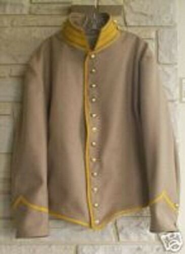 Confederate Cavalry Shell Jacket, Butternut with Yellow Trim, Civil War, New