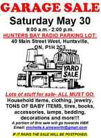 HUGE GARAGE SALE- many items. All must go!
