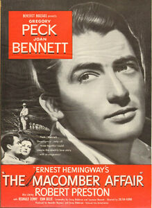 """Large 1947 full-page ad, """"The Macomber Affair"""" with Gregory Peck"""