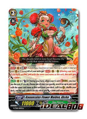 Cardfight Vanguard  X 1 Ranunculus Flower Maiden  Ahsha   G Td12 003En   Td  Com