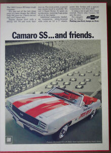 1969 Camaro Pace Car - GM Orginal Ad. from 1969 Kitchener / Waterloo Kitchener Area image 1