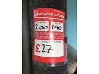 Dark grey deep pile carpet - 2m x 1.9m