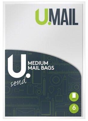 6 x Parcel Mailing Bags Polly Bag Medium  24 x 32CM White Postal Bag Envelop