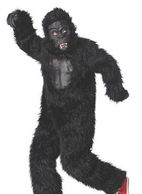 Brand New Youth Boys/Girls XL 16 Gorilla costume Rubber chest face Fuzzy Funny - Youth Gorilla Costume