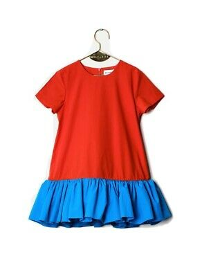 Wolf And Rita Red Blue Color Block Tunic Dress Size 2