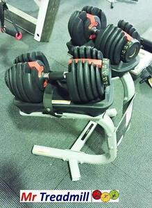 HURK ADJUSTABLE DUMBBELLS (2X24KG) + STAND | Mr Treadmill Geebung Brisbane North East Preview
