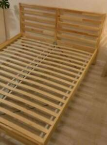 FREE DELIVERY QUEEN BED AND FREE OLD MATTRESS