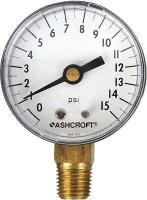 Gaugepressure0 To 15 Psilower2 In. Ashcroft 20w1005ph02l15