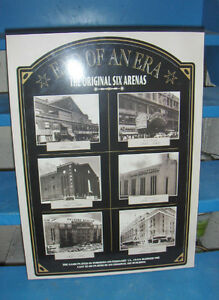Original Six NHL Areas Poster- Plak-It