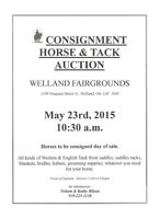 CONSIGNMENT HORSE AND TACK AUCTION