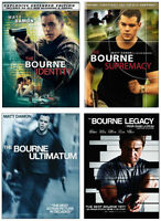 The four BOURNE film series with Matt Damon & Jeremy Renner