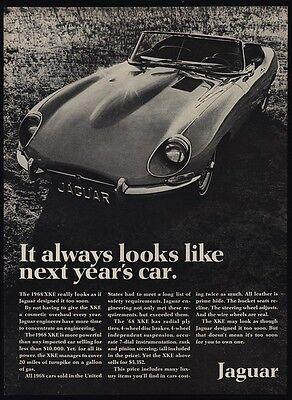 1968 JAGUAR XKE Convertible Sports Car - Looks Like Next Years Car - VINTAGE AD