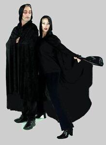 Mantello capo elegante velluto nero medioevo costume da diavolo vampiro zombie ebay - Costume da bagno velluto ...