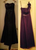 NEUF: 2 belles robes de soirée élégantes  tailles 4 (S) et 8 (M)