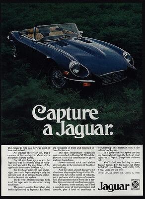 1974 JAGUAR E-Type Convertible Sports Car - Capture a Jaguar - VINTAGE AD