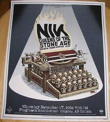 2005 Nine Inch Nails Silkscreen Concert Poster by EMEK