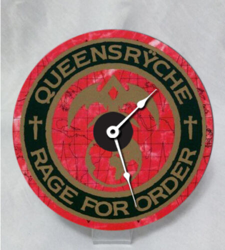 Hand crafted, color thermal print Queensryche Rage for Order Desk DVD Clock.