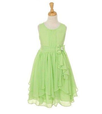 Green Gorgeous Fully Lined Simple Flower Girl Dress Graduation Birthday Party Jr - Gorgeous Flower Girl Dresses