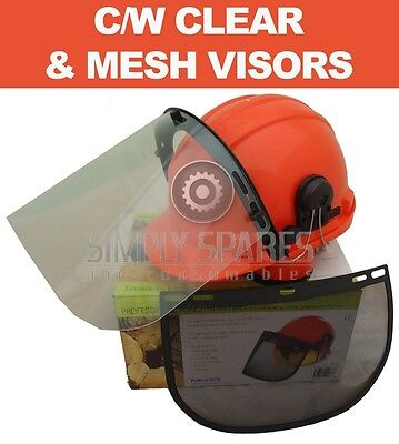 Chainsaw Safety Helmet Hard Hat c/w Ear Muffs & Visors Ideal For Stihl Users