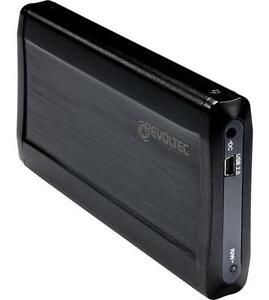 """Revoltec 2,5"""" USB SATA Alu Festplatten Gehäuse EX205"""