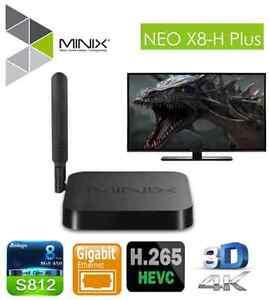 Minix neo X8H plus  UHD S812 4k QUADCORE ANDROID TV BOX