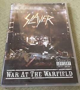Slayer dvd's still reigning & war at the warfield - $5 each