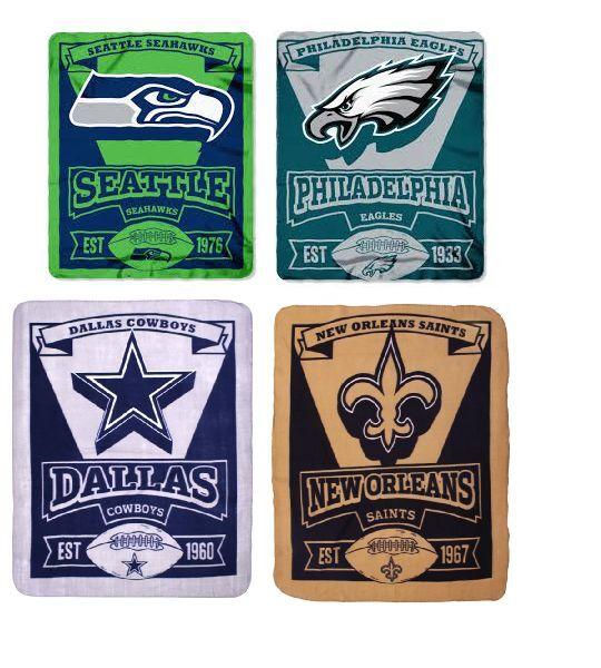 "NFL Marque Fleece Roll Throw blanket 50"" x 60"" by Northwest"
