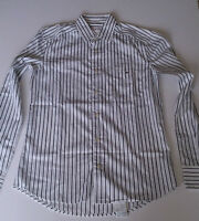 New Lacoste Dress shirt Stripes Size 38 (Small) Retail $129