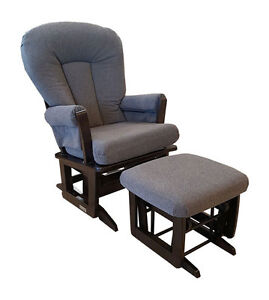 Dutailier Modern Glider Rocking Chair and Ottoman