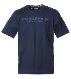 AUTHENTIC PAUL & SHARK E16P0164 TEE T SHIRT T-SHIRT NAVY S L 2XL 3XL BNWT