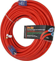 New 100FT HEAVY DUTY 12/3 GUAGE OUTDOOR EXTENSION CORDS !