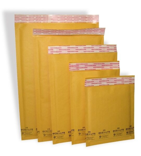 100 #0 Ecolite Kraft Bubble Padded Envelopes Mailers 6.5 x 10'' from TheBoxery