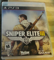 SNIPER ELITE 3 FOR PS3-$30