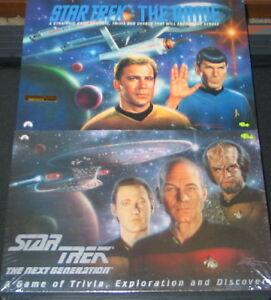 Star-Trek-1992-Classic-1993-Next-Generation-Trivia-Games-Set-of-2-UNUSED